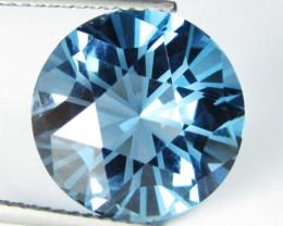 10.00Cts Sparkling Natural London Blue topaz Round precision Cut Loose Gem
