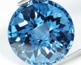 9.75Cts Stunning Natural London Blue Topaz Round precision Cut Loose Gem VI