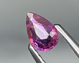 Unheated/Untreated Mozambique Pinkish Red Natural Ruby 0.37 Cts