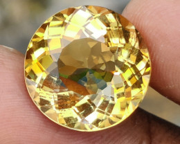 17.00 CTS NATURAL CITRINE ROUND EXCELLENT UNHEATED