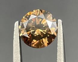 0.96 CT Diamond Gemstones brown color good luster