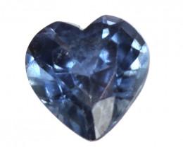 0.16cts Natural Australian Blue Sapphire  Heart Shape