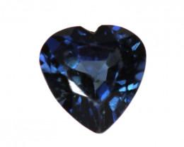 0.14cts Natural Australian Blue Sapphire  Heart Shape
