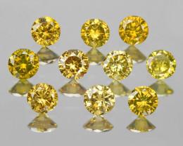 Diamonds 0.70 Cts 10Pcs Fancy Yellow Color Natural