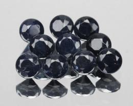 *NoReserve*Ceylon Sapphire 1.12 Cts 10Pcs Rare Natural Fancy Dark Blue