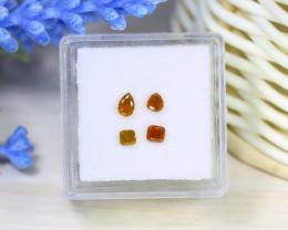 Orange Diamond 0.50Ct 4Pcs Untreated Genuine Fancy Diamond A2537