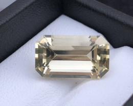 Fancy Cut Natural Top Grade 4.30  ct Light Color Citrine Ring Size