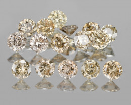 *NoReserve*Diamond 0.53 Cts 10Pcs Fancy Pinkish Brown Natural