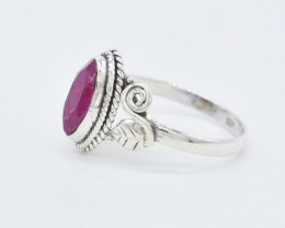 RUBY RING 925 STERLING SILVER NATURAL GEMSTONE AR1560