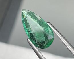 1.32 Cts AAA Grade Vivid Green Natural Zambian Emerald