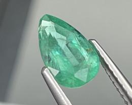 1.11 Cts Top Quality Vivid Green Natural Zambian Emerald