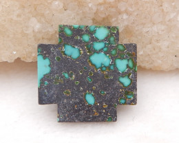 D1702 - 16cts Natural Lucky Turquoise, Handmade Gemstone, Turquoise cross C
