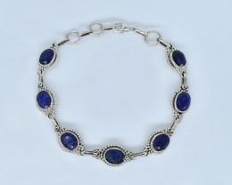 BLUE SAPPHIRE BRACELET NATURAL GEM 925 STERLING SILVER AB52