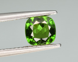 Natural  Green Chrome Diopside 1.10  Cts