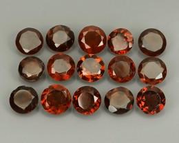 7.50 Cts_Marvelous round  Natural Rhodolite_~Parcel 15 Pcs~Excellent!!