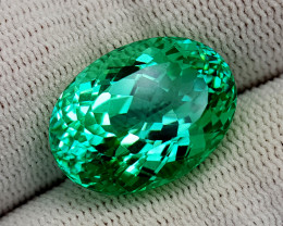 16.95CT GREEN SPODUMENE BEST QUALITY GEMSTONE IIGC61