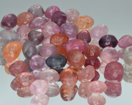 100 Cts Natural Spinels Multicolr Polished Tumbled Lot