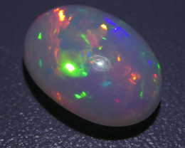 3.80ct Oval Cabochon White Opal  - $1 No Reserve Auction