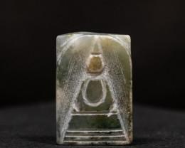 47.8ct Natural Burmese Jade  Buddha Carving