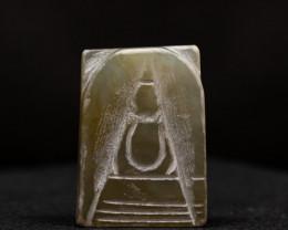 42.15ct Natural Burmese Jade  Buddha Carving
