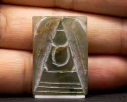 32.78ct Natural Burmese Jade  Buddha Carving