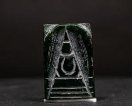 27.95ct Natural Burmese Jade  Buddha Carving