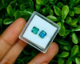 Emerald 2.12Ct 2Pcs Octagon Cut Natural Zambian Green Emerald A2703