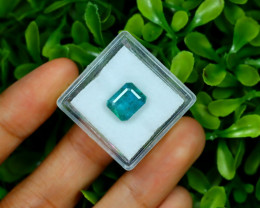 Emerald 3.13Ct Octagon Cut Natural Zambian Green Emerald A2712