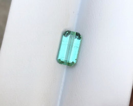 1.95 Carats Natural Blueish Green Tourmaline Cut Stone from Afghanistan