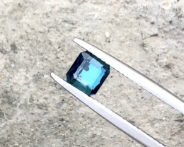 1.15 Blueish Green Tourmaline Cut Stone from Afghanistan