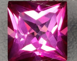 3.25 CTS SUPERIOR! TOP QUALITY SQUARE CUT HOT PINK-TOPAZ GENUINE NR