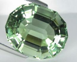 15.75Cts Stunning Natural Green Amethyst (prasiolite) Fancy Cut Loose Gem V