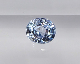 0.77ct unheated light blue sapphire