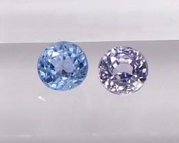 1.14ct unheated sapphires