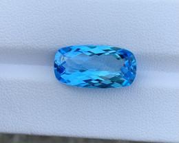 9.48 Cts Natural Blue Topaz Gemstone Good Luster