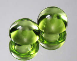 3.33Cts Genuine Excellent Natural Peridot 7mm Round cabochon Matching Pair