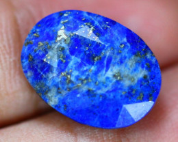 10.53ct Natural Lapis Lazulli Faceted Oval Cut Lot V9274
