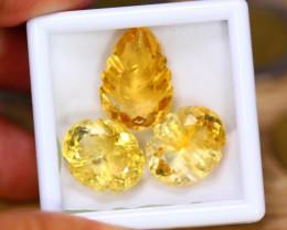 31.69ct Natural Yellow Citrine Fancy Cut Lot V9298