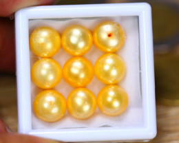 47.52Ct Natural Yellow Color Fresh Water Pearl Cultured Drill Lot B3732