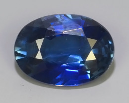 certified 2.11 cts  Natural Intense Beautiful Blue Sapphire Oval Shape From