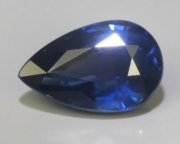 certified 3.05 cts Natural Intense Beautiful Blue Sapphire Oval Shape From