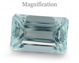 7.08ct Emerald Cut Aquamarine