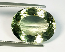 17.95 ct Top Quality Gem Stunning Oval Cut Natural Green Amethyst