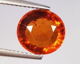 4.56 ct  AAA Grade Gem Oval Cut Natural Hessonite Garnet