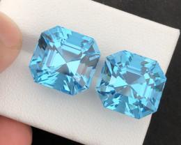 37.45 carats natural Asschers Swiss topaz gemstone