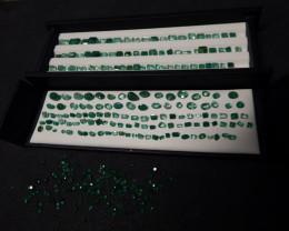 128.25 carat Emerald Mixed Cuts Excellent quality Cut Gem Lot Swat