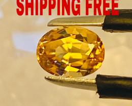 1.35 CHRYSOBERYL  -GOLD-CEYLON - SHIPPING FREE -  I DISCONNECT MY COLLECTIO