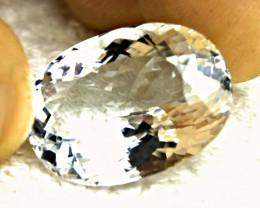 CERTIFIED - 23.58 Ct. VVS1 Himalayan Silver Blue Aquamarine - Gorgeous