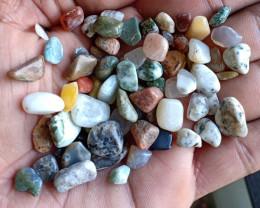 200 Ct Tumbled Gemstones Mix Lot 100% NATURAL AND UNTREATED VA275
