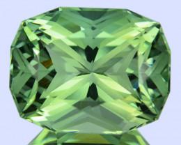 ~CUSTOM CUT~ 10.28 Cts Natural Prasiolite / Amethyst Fancy Cushion Brazil
